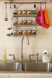 ... Gorgeous Wall Mounted Kitchen Storage Rack Craftionary ...