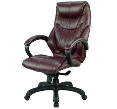 real leather office chair with brown color with pneumatic height adjustment and contoured back and seat with built in lumbar support brown leather office chairs