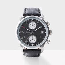 paul smith men s designer watches paul smith men s grey and black block chronograph watch