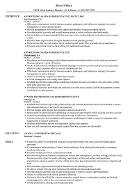 Sales Representative Resume Example Advertising Sales Representative Resume Samples Velvet Jobs 15