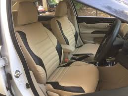 Honda Amaze Seat Cover Designs Autofact Pu Leather Car Seat Covers For Honda Amaze In Beige And Black Color