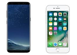 samsung galaxy s6 vs iphone 7. galaxy s8 (left) vs iphone 7 (right) shows one of the biggest samsung s6 iphone p