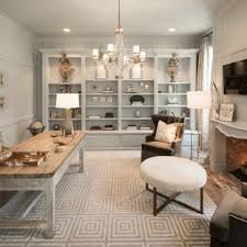 Chic office design Small Example Of Cottage Chic Home Office Design In Houston Houzz 75 Most Popular Shabbychic Style Houston Home Office Design Ideas