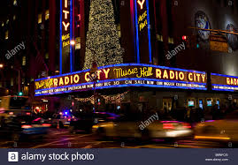 christmas outside lighting. Christmas Lights Are Seen On The Outside Of Radio City Music Hall In New York, NY Lighting L