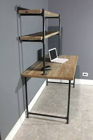 desk raw reclaimed computer desk w 2 shelves by urbanwoodfurnishings how to make a computer