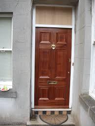 beautifully bespoke solid hardwood six panel front door
