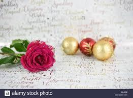 Weihnachten Fotografie Bild Mit Glitter Red Rose Blume Und