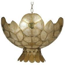 capiz shell mid century tulip pendant for table lamp shade capiz shell
