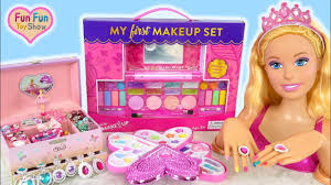 giant barbie styling doll makeover deluxe makeup cosmetic set kosmetik mainan barbie cosméticos