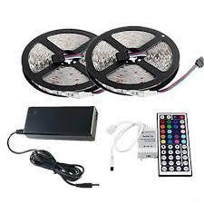 <b>ZDM</b>™ 2×<b>5M</b> RGB <b>LED Strip</b> Light 300 3528 SMD and 44Key ...