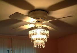 image of crystal chandelier ceiling fan combo