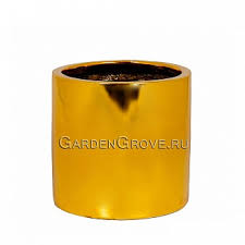 <b>Кашпо Pottery Pots</b> Fiberstone platinum glossy gold <b>puk</b> s ...