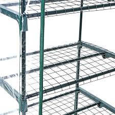 outdoor greenhouse garn 4 tier mini green house w shelves metal frame cover us stock mobile gardman replacement