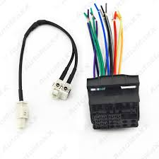 online get cheap head unit wiring harness aliexpress com car stereo head unit wiring harness fakra y spliter 1jack to 2plug for