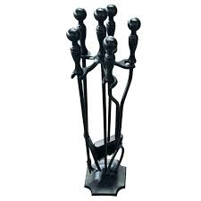 fireplace tool kit hand forged fireplace tools rustic fireplace tools 5 pieces wrought iron tool set