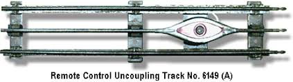 lionel trains remote control uncoupling track no 6149 variation a spacer lionel track