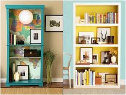 ... Decoration Using Light Blue Interior Wall Paint Including In Wall White  Wood Decorative Book Shelves And Round Really Tall Glass Floor Flower Vase  Image