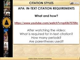 Citation Styles Formats Guidelines Ppt Download