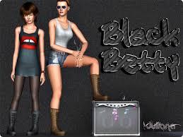 심즈3 여심 신발] 부츠 : Black Betty Boots by Juliana Sims : 네이버 블로그