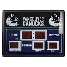 nhl scoreboard wall clocks canucks