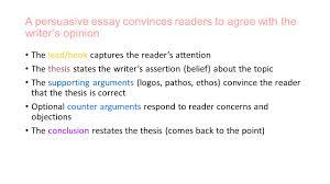 the persuasive essay persuasive writing persuasive writing is  4 persuasive