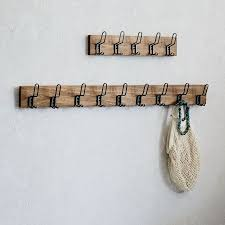 Multi Hook Coat Rack Stunning Industrial Hook Rack West Elm
