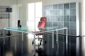 glass office furniture. Glass Desk And Cupboard Office Furniture Gallery