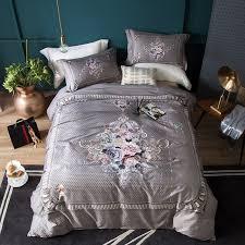 egyptian cotton luxury europe bedding set queen king size bed sheet linen set bohemia boho bed