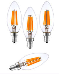 sleeklighting 6 watt e12 led filament candelabra light bulb dimmable 60w incandescent replacement warm white 2700k decorative chandelier bulb e12