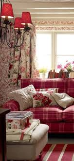 decorating with red furniture. laura ashley english cottage style decorating with red furniture