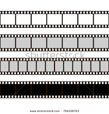 Film Template For Photos Film Set Collection Film Camera Stock Vector 768108763