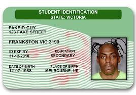novelty Novelty noveltyid Vic Face Id Card
