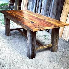 reclaimed wood dining room tables dining table made from reclaimed wood barn wood dining room table