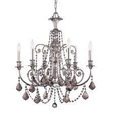 crystorama lighting group regis olde silver chandeliers