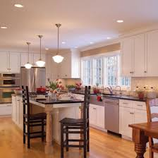 Kitchen Lighting Ideas Over Sink Kitchen With Two Island Pendant Lights And  A Light Above The