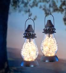 outdoor hanging solar chandelier dumound flower blooms lantern features honeyle shaped leds for a home interior