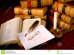 law books and quill