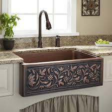 30 inch vine design copper farmhouse sinks
