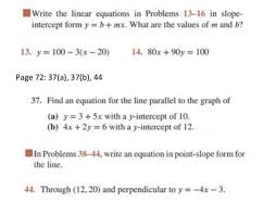write the linear equations in problems