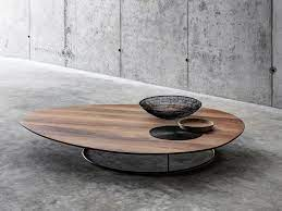 low coffee table in solid wood by fioroni