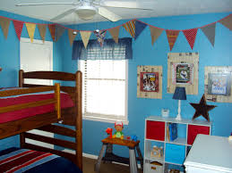 simple bedroom for boys. Simple Bedrooms Ideas For Kids Room Decorating With Wooden Bunk Bed And Blue Wall Theme White Bedroom Boys G