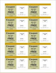Make Coupons How To Make Coupons With Sample Coupon Templates Word Document