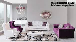 modern furniture 2014. Exellent 2014 Modern Luxury Living Room Furniture Purple And White Sofas Chairs For Modern Furniture 2014