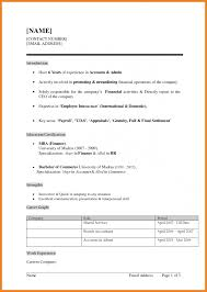 Creative Resume Format Of Mca Freshers About For Fresher In Word Bca