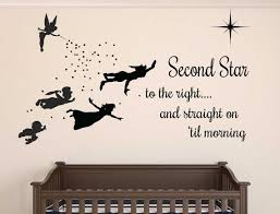 peter pan nursery nursery wall decals