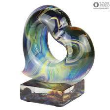 heart sculpture in chalcedony original murano glass chalcedony heart original murano glass 99 jpg