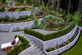 stone walls and garden beds can work well together to build a great castle like look