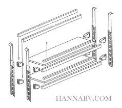 rack em ra 13 enclosed trailer organizer shelf kit