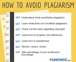 Tips on How to Avoid Plagiarism   Learn to Avoid Plagiarism eLearners
