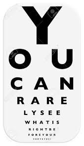 Eye Chart Letters Stock Illustration
